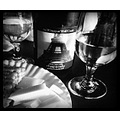 winery wine black and white