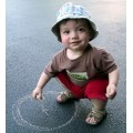child chalk draw