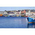 stornoway harbour boats sea water fishing ships