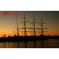 Sedov sunset sun Iceland sailing ship ships rigging masts Reykjavik
