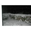 Night winter snow