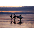 surfers westward ho evening sunset landscape