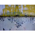 yellow graffiti abstract
