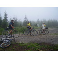 CzechRepublic Bohemia Brdy mountains cycling fog