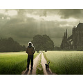 walk photomontage church sky cat path fantasy digitalart selfportrait