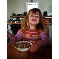 Breakfast Valdis Iceland girl child smile cornflakes food