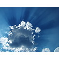 over clouds always blue the sky