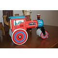 technofix nova237 Strassenwalze road roller tin tintoy clockwork toy