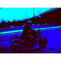 me theodora on the road with my bike ducati 2005 the ghost ryder