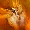 artistic portrait motion orange movement burn woman hair experimantal keitology