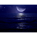 moon sea sky stars mariamel