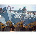 residences blaak yellow cubes houses holland roofs architecture rotterdam