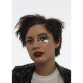 garethhh fashion studio sequins leather sid nancy pose sequins heels makeup hair
