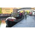 Birmingham City Metro England People Canals Narrowboat