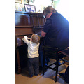 Grandson Ralph saw me playing the piano...