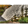 'Wall of Water': water cascading over the top of the Derwent Reservoir in the Derbyshire Peak Dis...