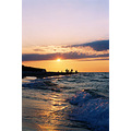 sea sunset evening people holiday water landscape