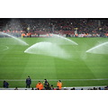 barcelona football playground grass green irrigation