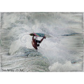 surfer battles wave huntington beach ca abstract pankey wildspirit action