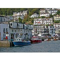 0206 Looe Cornwall UK Quay Harbour Boat Moored Sea Coast Home House