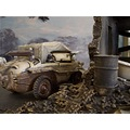 world war II jeep german miniature model