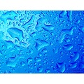 Blue Metallic Water Drops