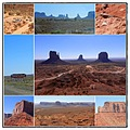monument valley utah arizona usa collage