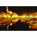 France Martigues city canal night