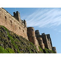 Bamburgh Castle blue skies