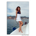 girl woman wife portrait summer beauty yacht sea sitges barcelona