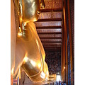 Pho Wat Reclining Temple notice Buddha the size