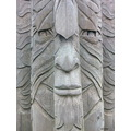 wood face sculpture greenman