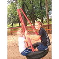 Me and tona on the tire swing