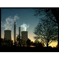 cooling towers sunset digitalartclub