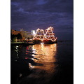 Boats ships gallions sea scape ocean water lights night time