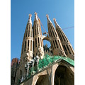 Sagrada Familia Church seen by Brugge,  Barcelona - Spain