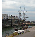 Cornwall Charlestown Harbour Ship Sail Boat Coast Sea