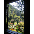 view throught a window at The Butchart Garden