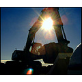 silhouettefriday funfriday machine blue sun light work action silhouette