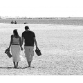 people sunny landscape bw beach water sand