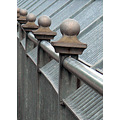 rail railings fence metal grey barrier