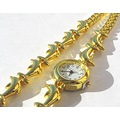 Gold Dolphin watch bracelet crimeajewel