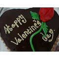 Happy Valentine day chocolate cake rose