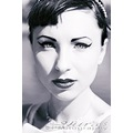 black and white headshot vintage elegant girl audry hepburn fashion