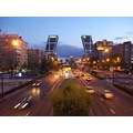 Europe Spain Madrid Nightfall Streets Cityscapes Dusk Buildings