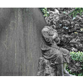 cemetery grave stone memorial carving statue coloursplash