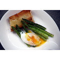 Grilled asparagus with poached duck egg 2