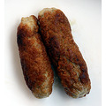 Home made pork sausages - cooked