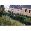 luxembourg grund river alzette people tourists