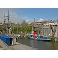 Cornwall Charlestown UK Harbour Boat Moored Ship Coast Sea Mast Sail